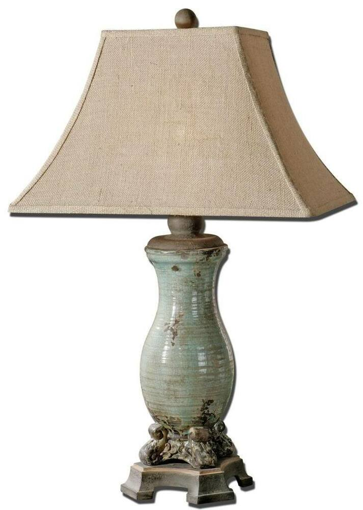 Gorgeous distressed crackled ceramic table lamp art for Ceramic table lamps