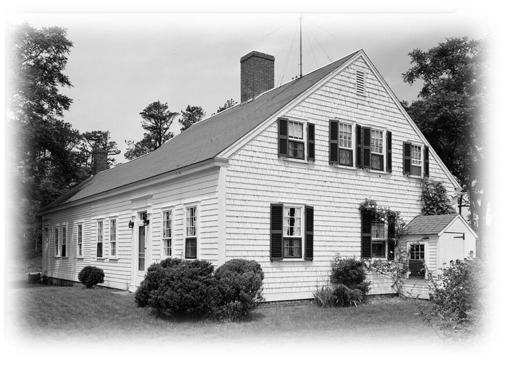 Cape cod colonial house plans one story plan w attic for Single story cape cod house plans