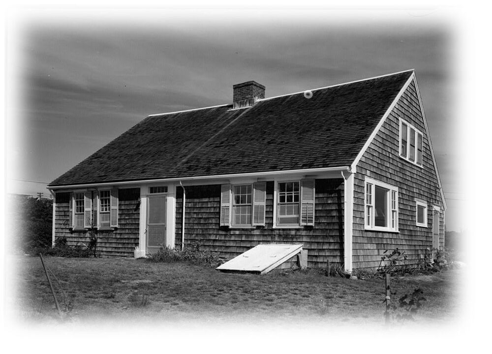 Cape cod colonial home plans one story plan w attic for Colonial cape