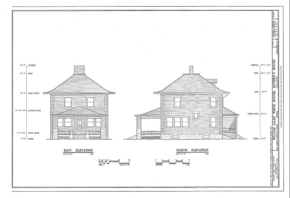 3 Bed 1 Bath Brick Home Architectural Plans