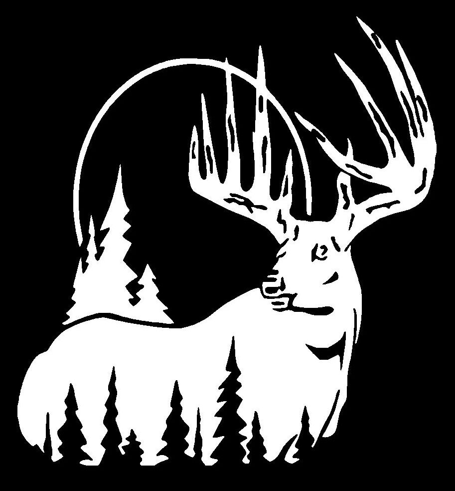 Whitetail Deer Hunting Sticker Buck Decal Truck Suv Car