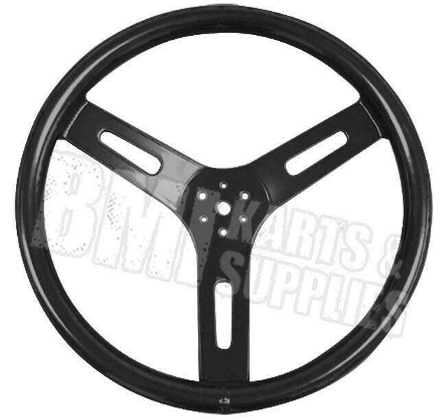 Black 12 Quot Round Aluminum Steering Wheel Racing Go Kart Fun