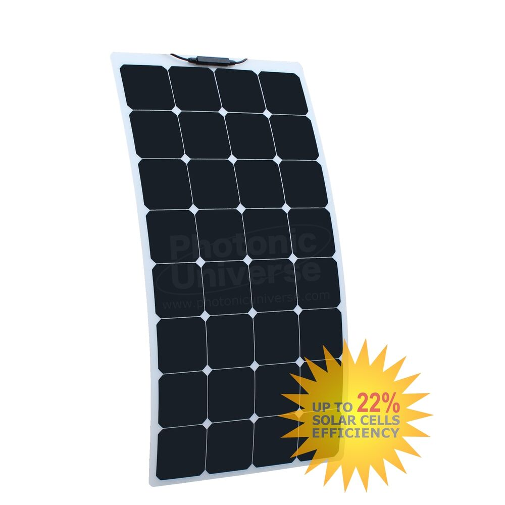 100W Flexible Solar Panel Back Contact Cells for camper Caravan RV ...