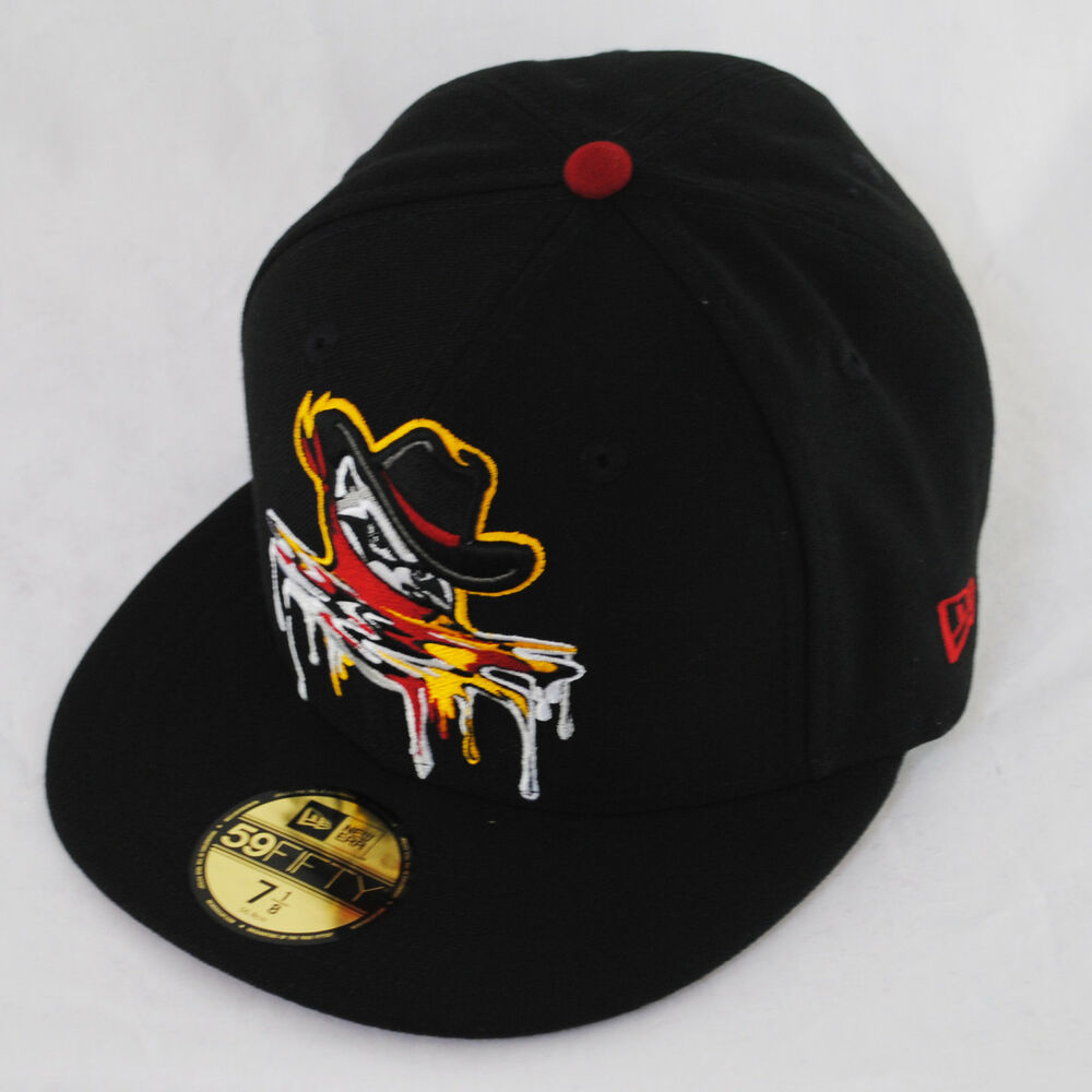 Details about New Era 59fifty Quad Cities River Bandits Spring Melt Black  Fitted 5950 Hat Cap 1f6fd23178f