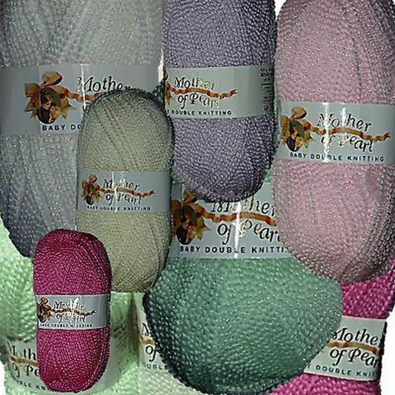 Knitting Essentials White Sparkle Wool : Jarol mother of pearl baby knitting wool yarn sparkle