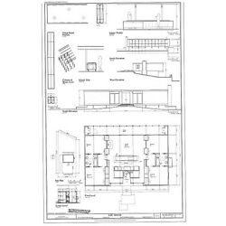 Mid-century modern home design, Lee House, architectural house plans, PRINTED