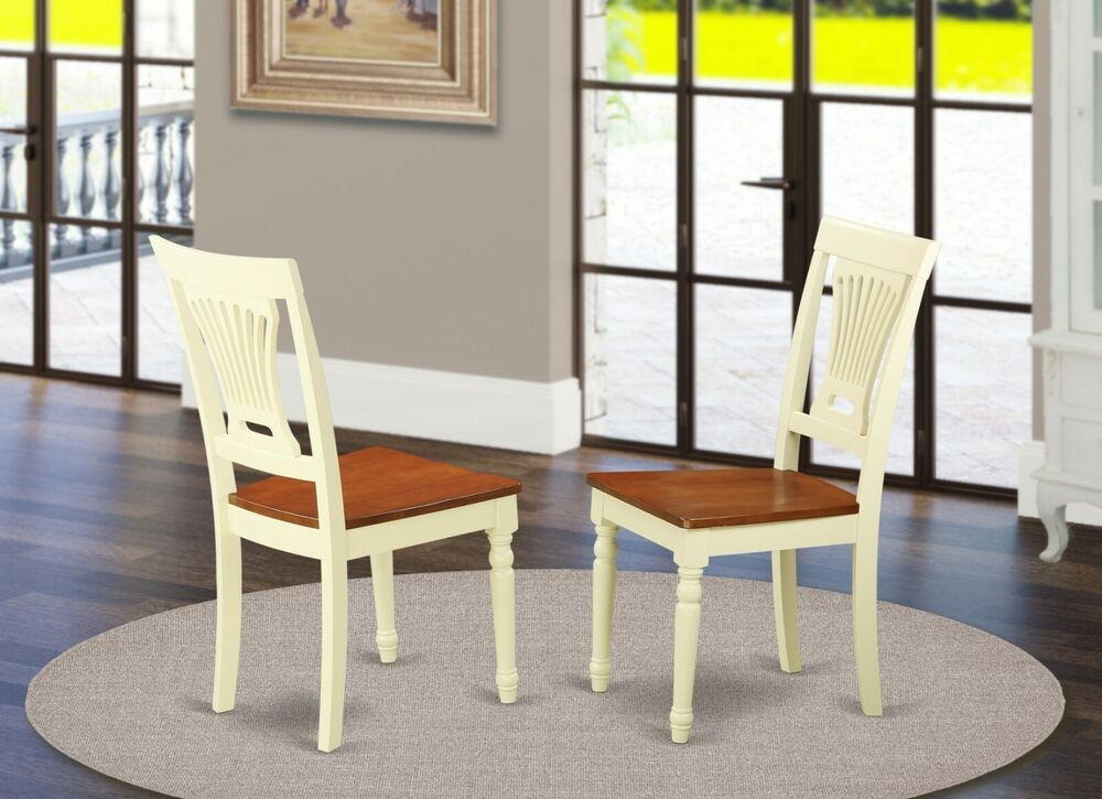 Set Of 2 Plainville Kitchen Amp Dining Chairs With Wood Seat