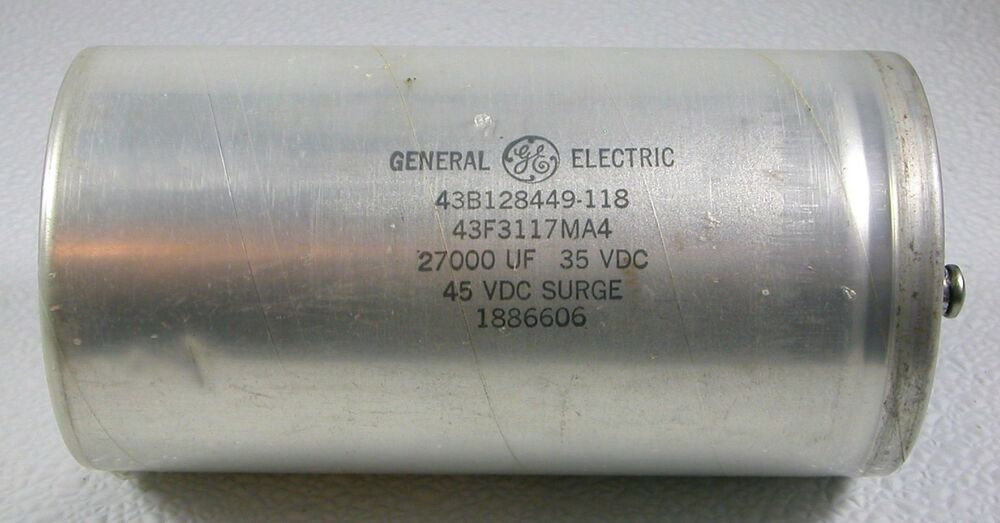 New General Electric 43b128449 118 Electrolytic Capacitor