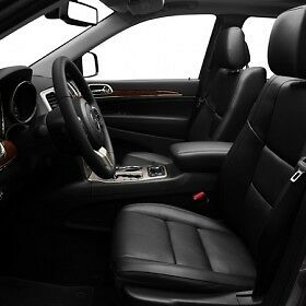 2011 2014 jeep grand cherokee laredo leather interior black ebay. Black Bedroom Furniture Sets. Home Design Ideas