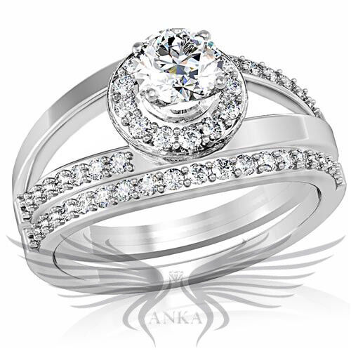 Classy round cut lab created russian sim diamond for Lab created diamond wedding rings