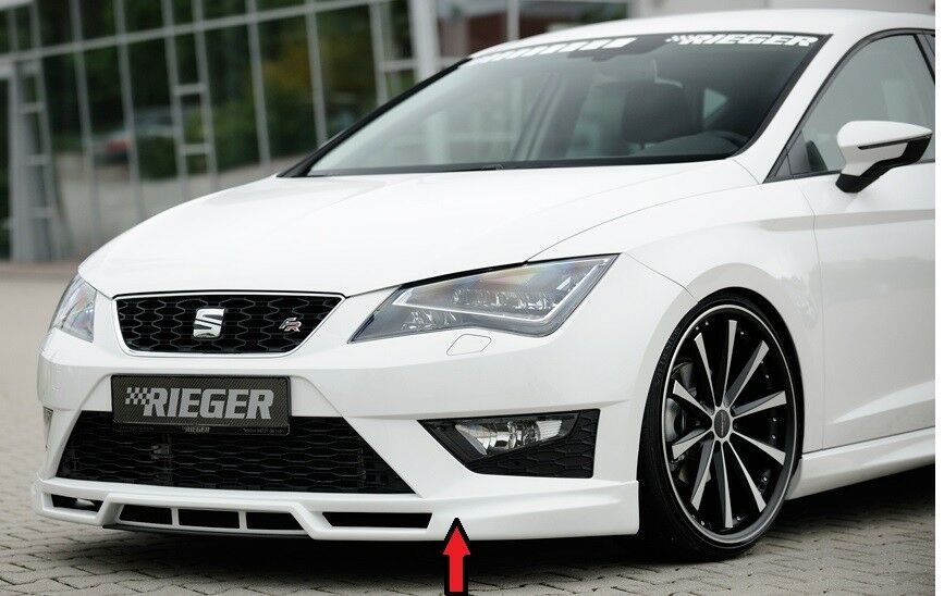 rieger spoilerlippe f r seat leon 5f fr cupra 00027000. Black Bedroom Furniture Sets. Home Design Ideas
