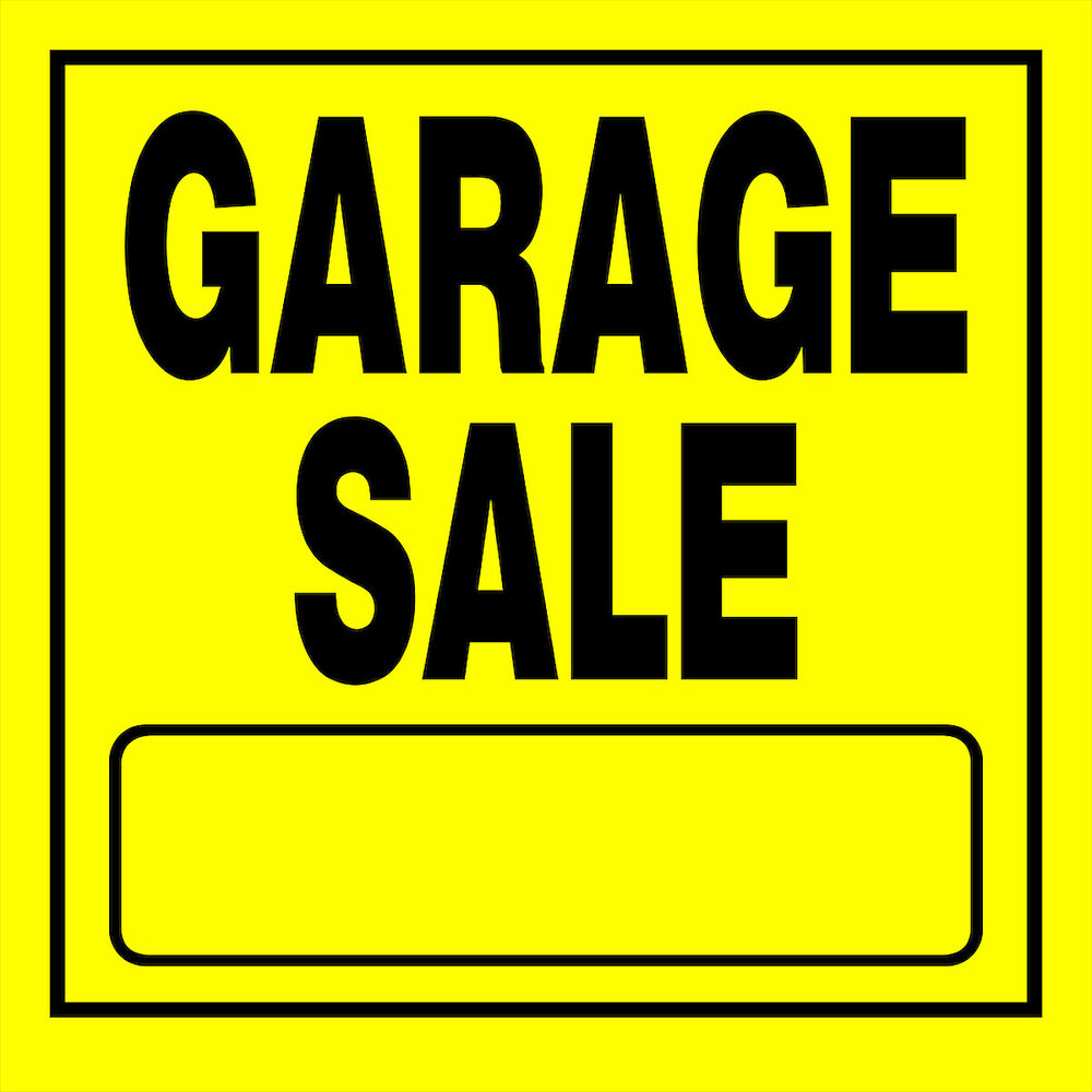 garage sale sign yellow plastic with blank 11 u0026quot  x 11 u0026quot  yard