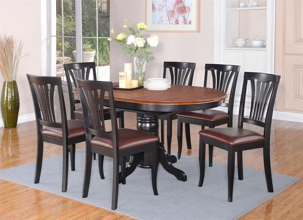 5pc Avon Oval Kitchen Dining Table W 4 Leather Seat