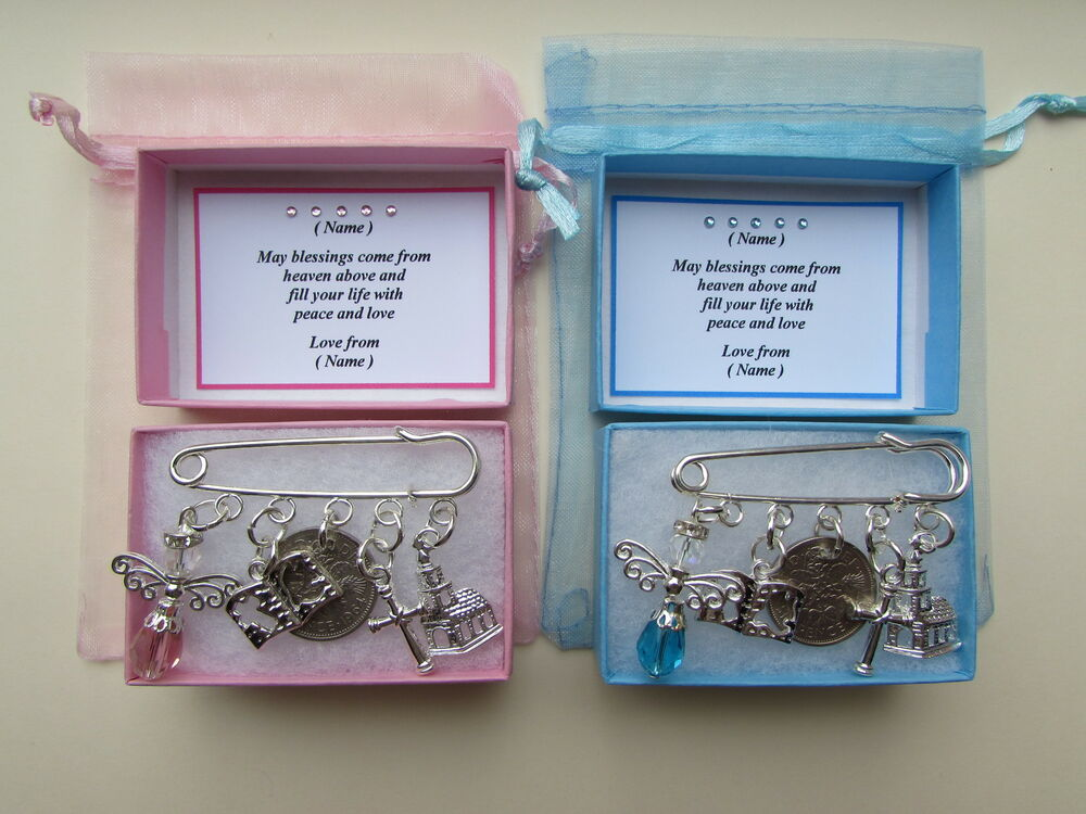Personalised christening baptism lucky sixpence keepsake gift boxed ebay - Gifts for baby christening ideas ...