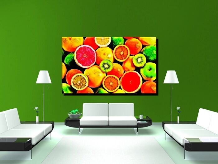 poster bild xxl pop art obst fr chte apfel orange zitrone kiwi k che bis 150x90 ebay. Black Bedroom Furniture Sets. Home Design Ideas