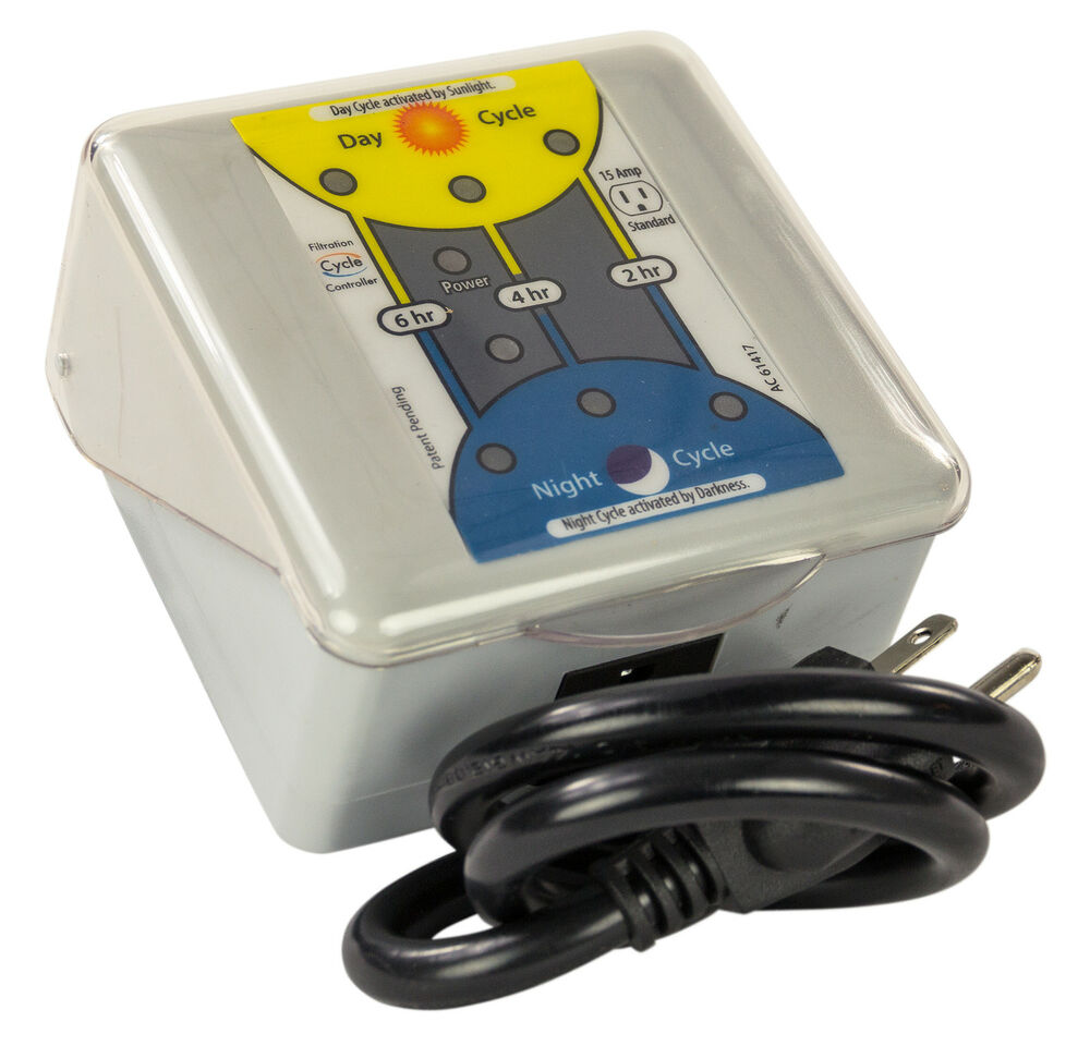 Sunlight Activated Programmable Timer For Swimming Pools Filters Pumps 110 Volt Ebay
