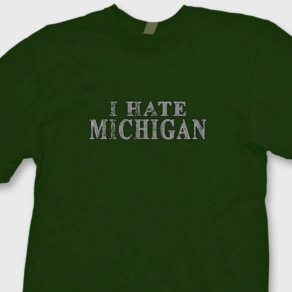 I hate michigan vintage buckeyes t shirt jersey ohio state for Michigan state t shirts vintage