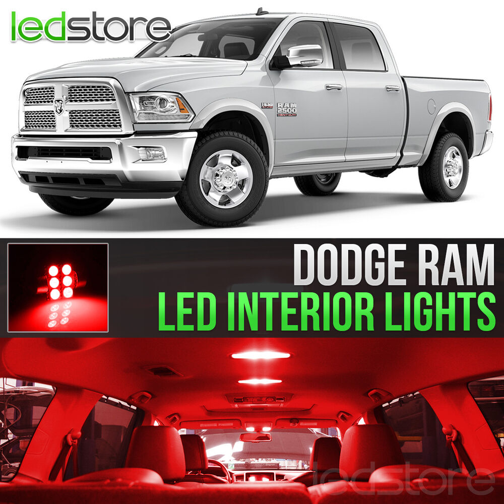 2009 2015 Dodge Ram 1500 2500 3500 Red Led Lights Interior Kit Ebay