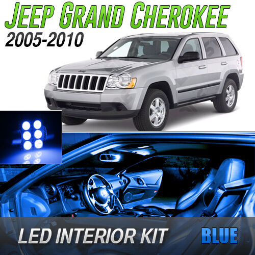 2005 2010 jeep grand cherokee blue led lights interior kit - 2015 jeep grand cherokee led interior lights ...