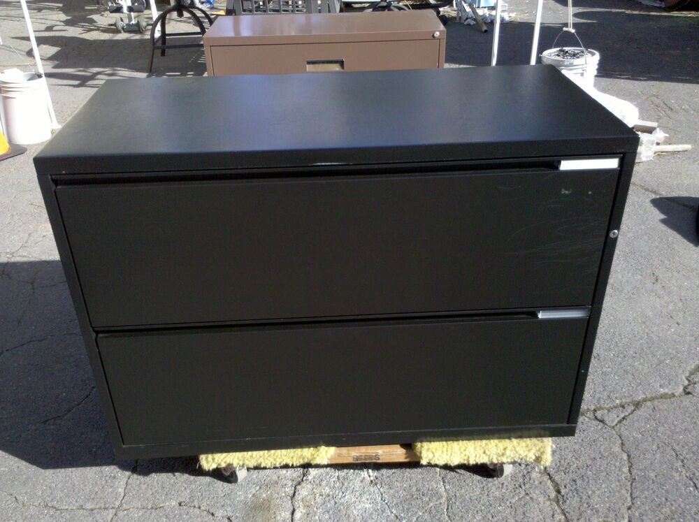 Herman Miller File Cabinet 2 Drawer Lateral 42 Quot Black We