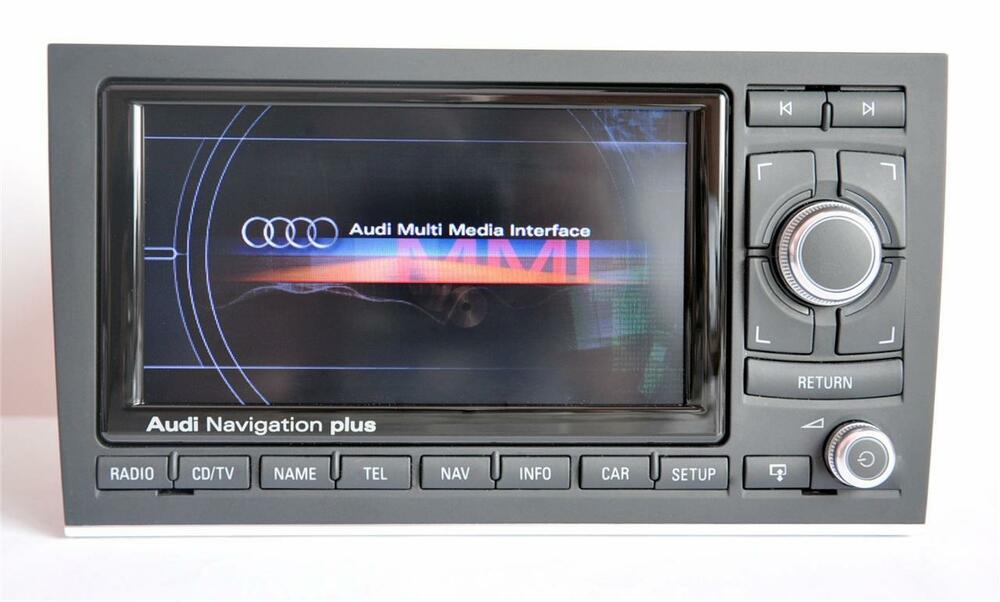 usa canada audi a4 s4 rs4 rns e 2015 navigation dvd chrome glossy gps 8e0035192 ebay. Black Bedroom Furniture Sets. Home Design Ideas