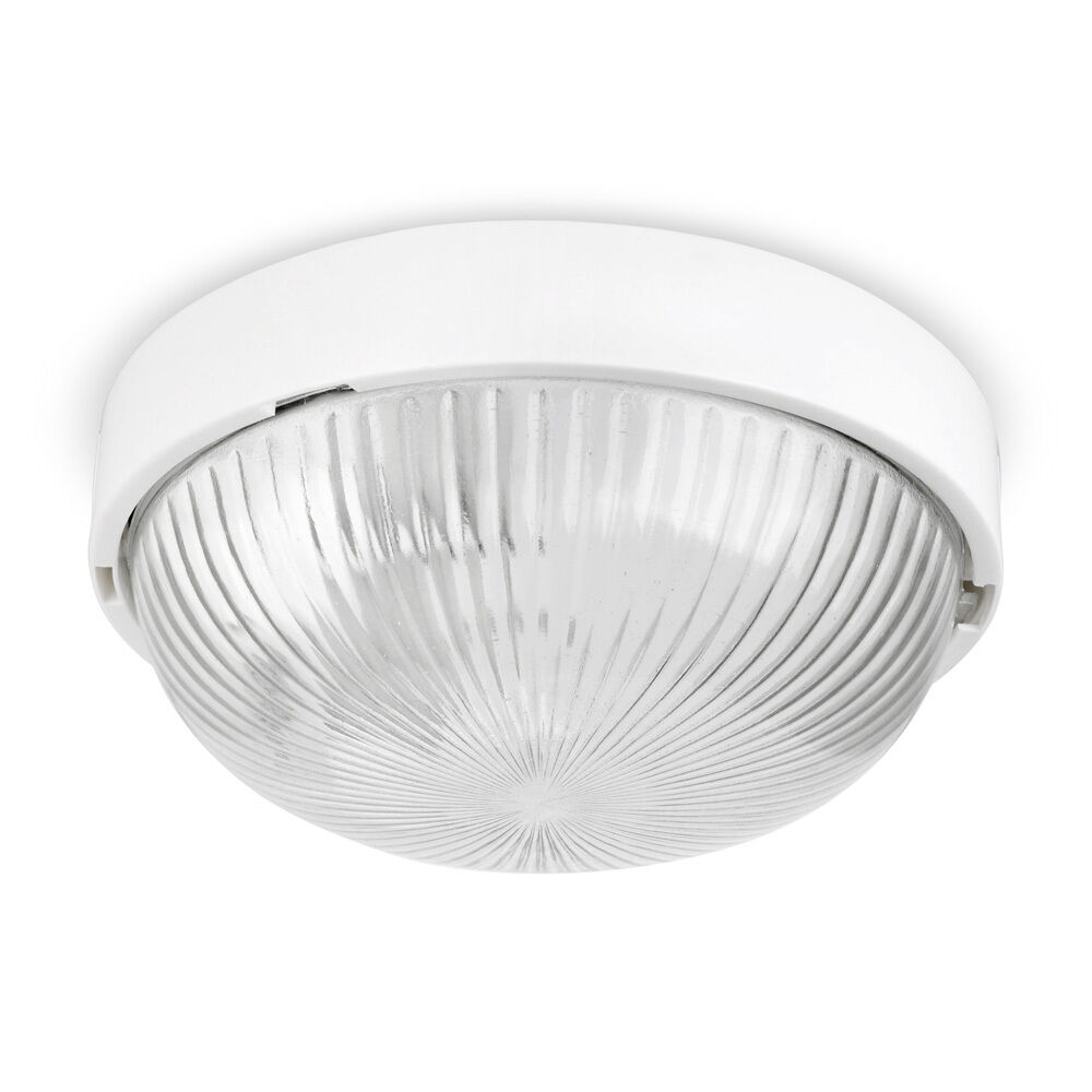 ip44 modern gloss white round flush bathroom ceiling bulkhead light