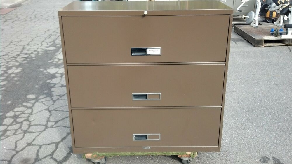 """42 Lateral File Cabinet 2 Drawer: FILE CABINET 3 DRAWER LATERAL 42""""w Brown McDowell & Craig"""