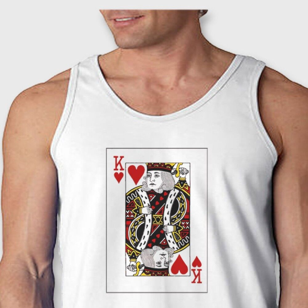 King of hearts cool t shirt poker cards valentines men 39 s for Great shirts for guys