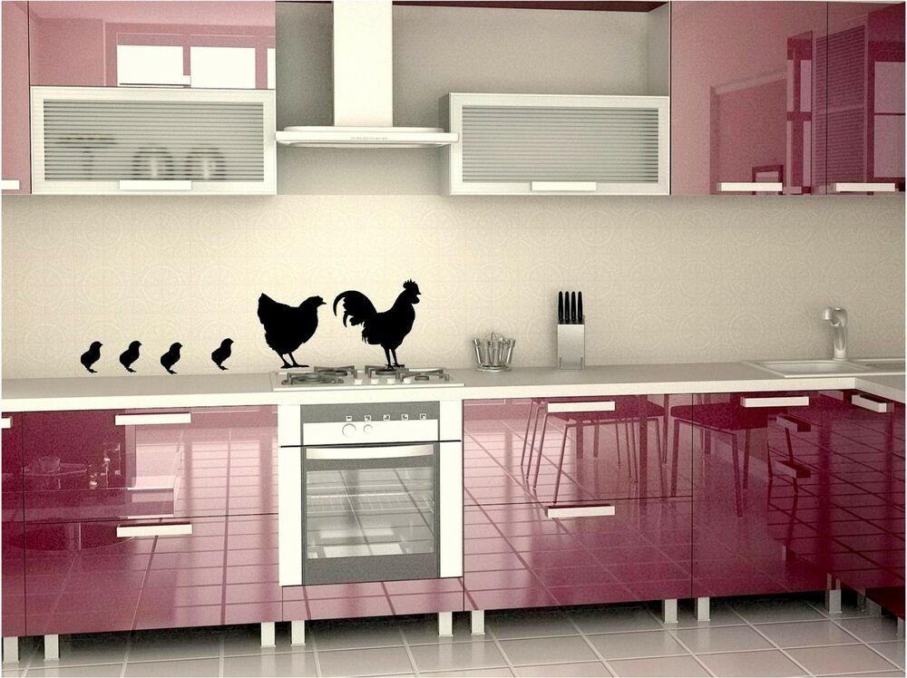 Country Kitchen Chicken Family Wall Art Decals In 4 Colors EBay