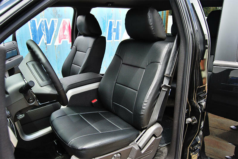 ford f 150 2009 2014 black iggee s leather custom fit. Black Bedroom Furniture Sets. Home Design Ideas