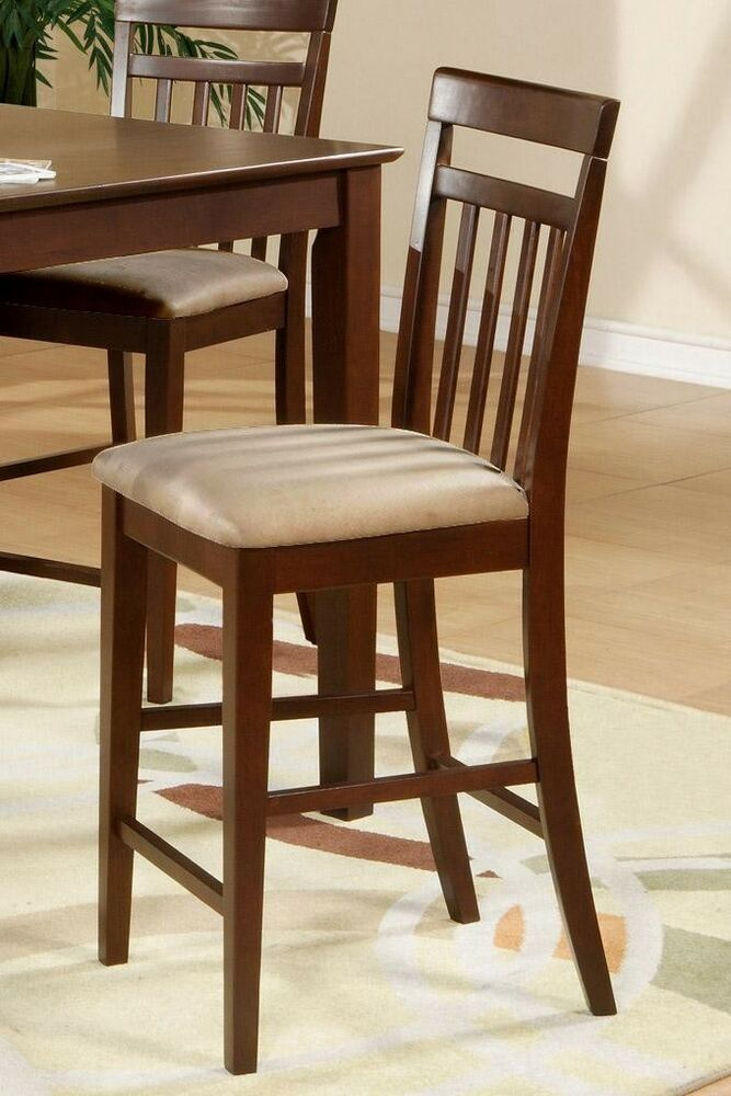 Counter Height Chairs Set Of 4 : Set of 4 East West counter height bar stool chairs microfiber padded ...