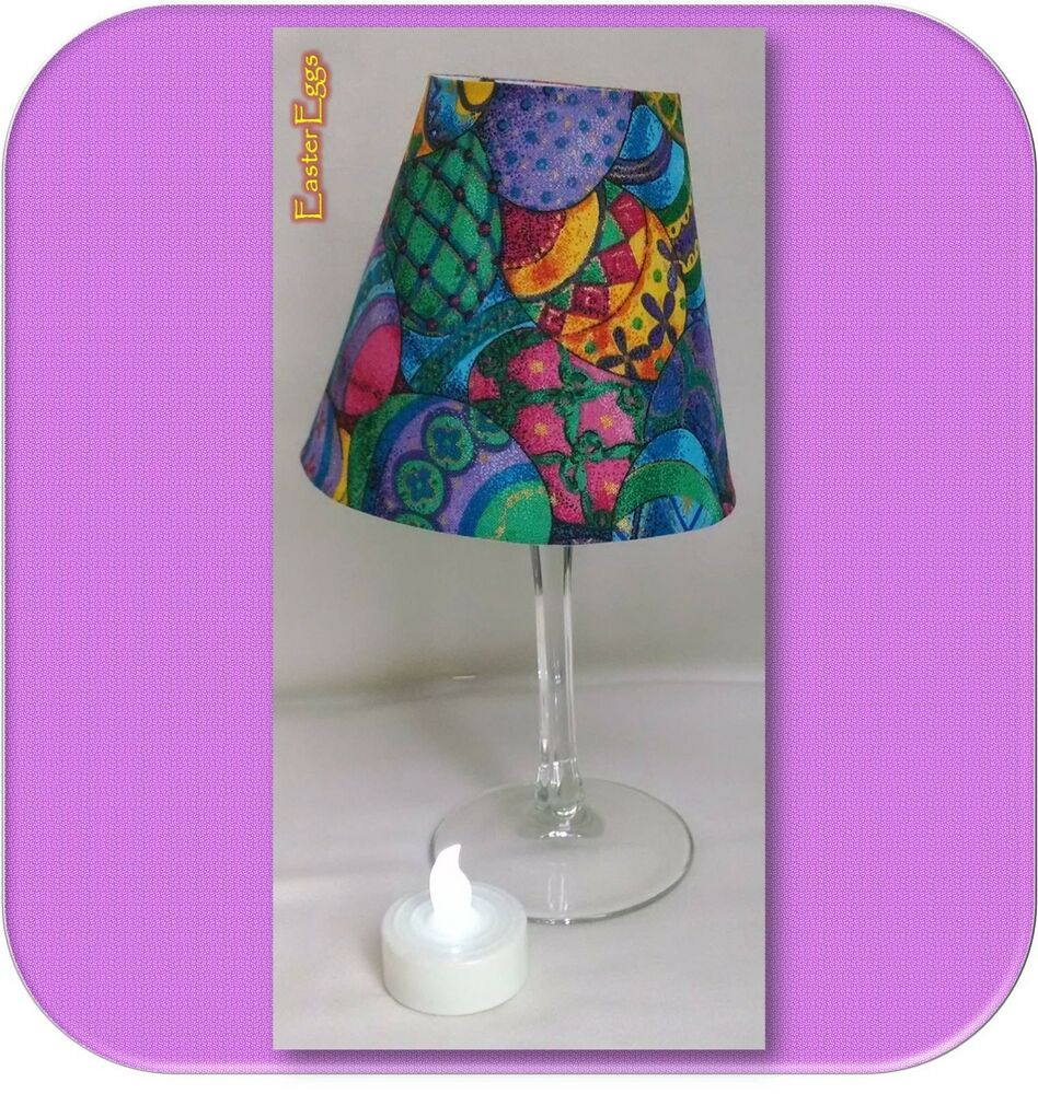 easter spring small fabric wine glass lamp shade tea light. Black Bedroom Furniture Sets. Home Design Ideas