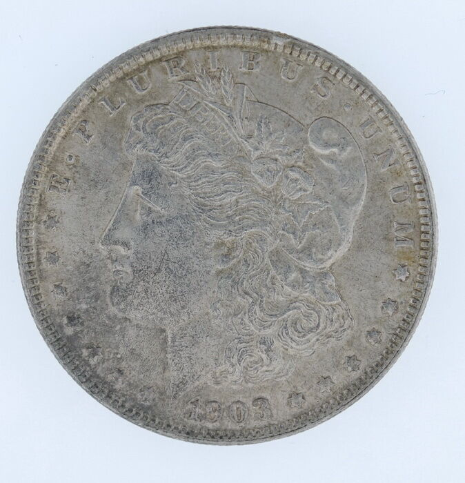 1903 Us Mint United States Morgan Silver One Dollar Coin