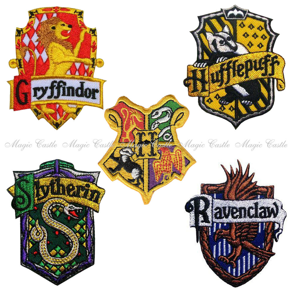Magic Castle Harry Potter School Crest Iron On Embroidered