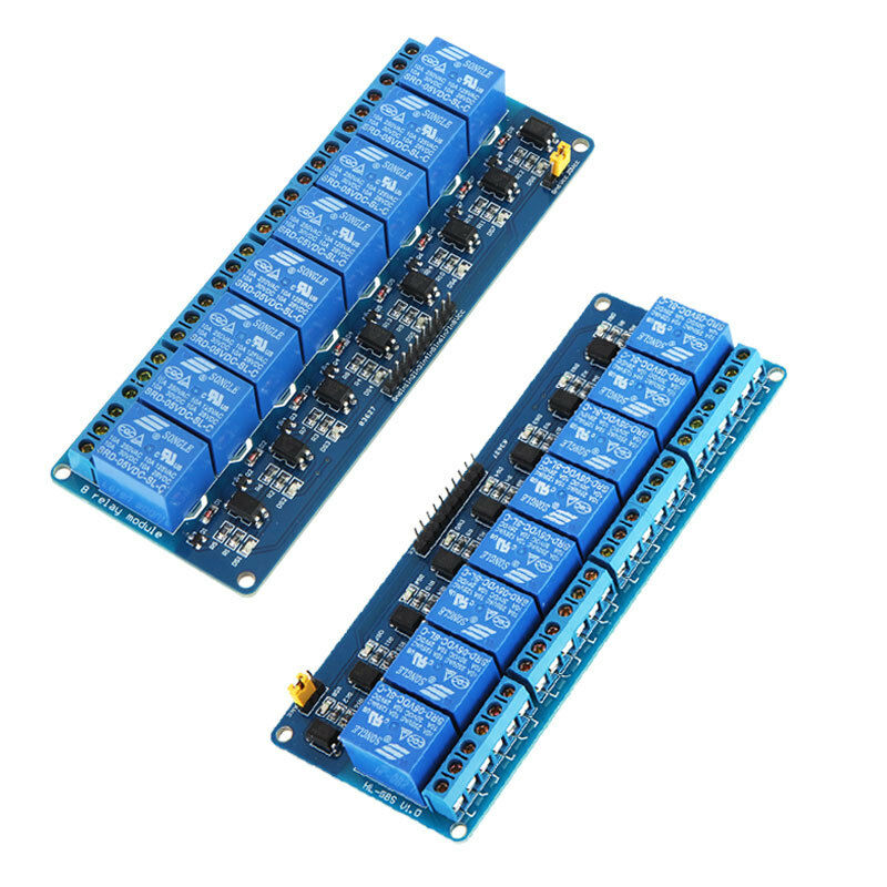 2 pcs 5v active low 8 channel relay module board for. Black Bedroom Furniture Sets. Home Design Ideas
