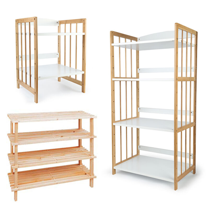 Retail Unit Wooden Display Bookcase Shelving Storage Market Stalls ...