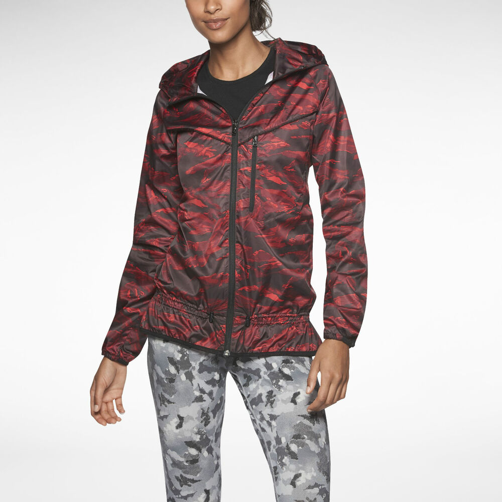 new nwt nike packable camouflage trail jacket womens red. Black Bedroom Furniture Sets. Home Design Ideas