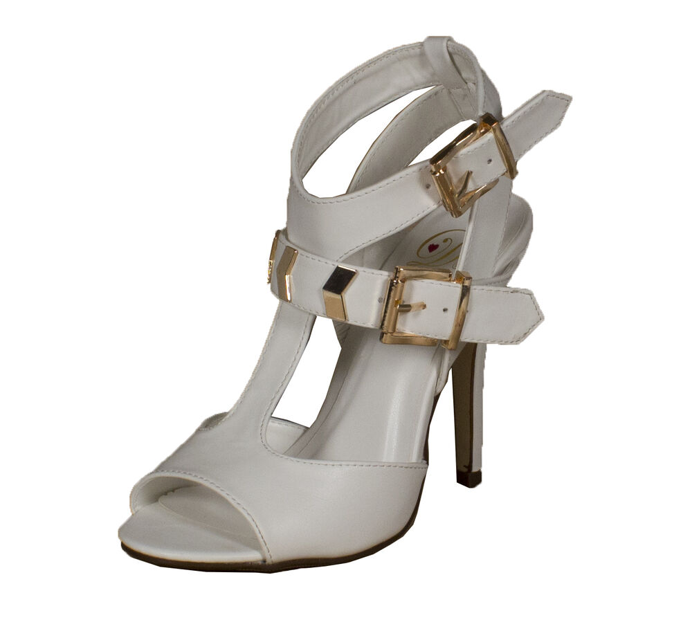 arroyo strappy open toe high heel sandal adjustable