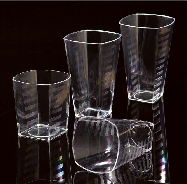 Disposable Square Plastic Shot Glass Glasses Tumbler