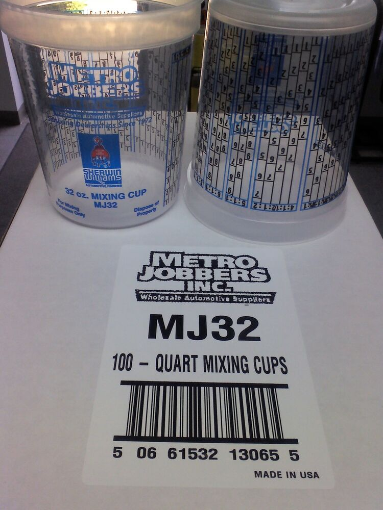 Paint Mixing Cups Quart With Graduations Ppg Compare To Ezmix 70032 100 In A Box Ebay