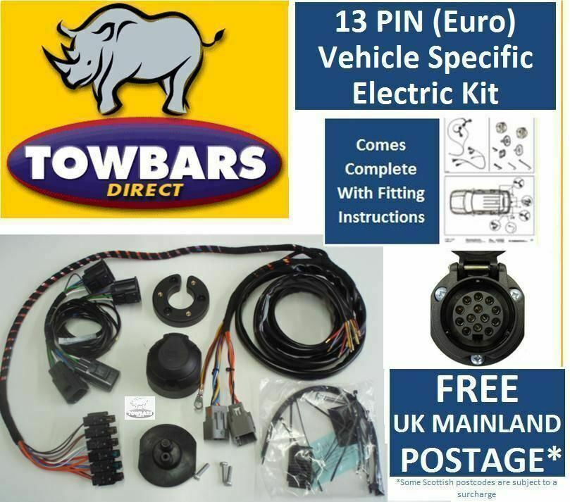 Towbar Wiring 13 Pin Kit For Vauxhall Zafira Tourer C 2012on Specific Electrics