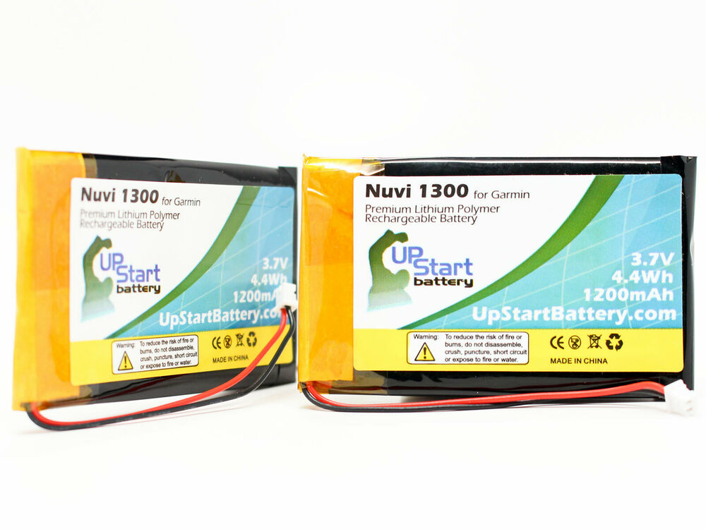2x replacement battery for garmin nuvi 1300 nuvi 1350t. Black Bedroom Furniture Sets. Home Design Ideas