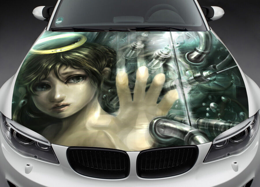Broken Angel Hood Full Color Graphics Wrap Decal Vinyl