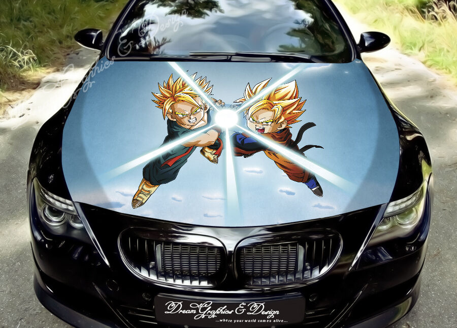 Manga Full Color Graphics Adhesive Vinyl Sticker Fit Any