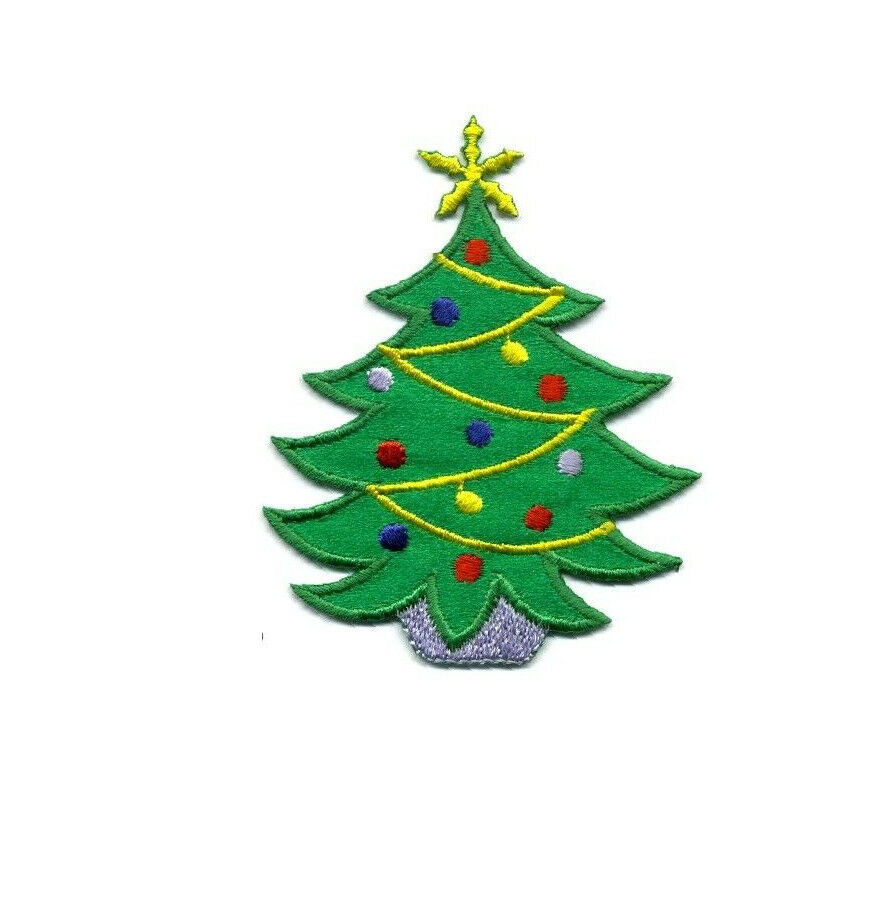 Christmas Tree Patch: Embroidered Decorations