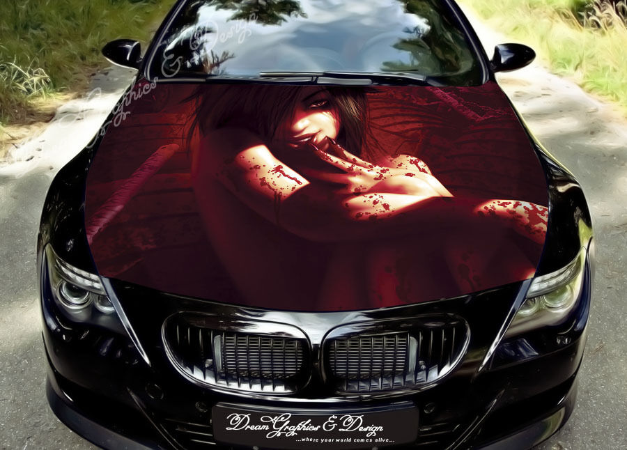 Blood Girl Full Color Graphics Wrap Decal Vinyl Sticker