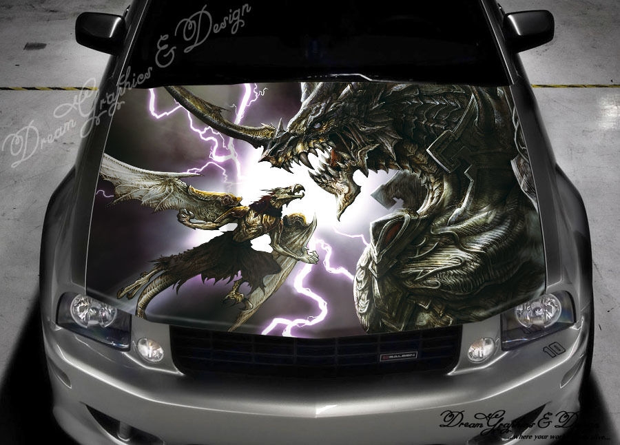 Dragon Hood Full Color Graphics Wrap Decal Vinyl Sticker