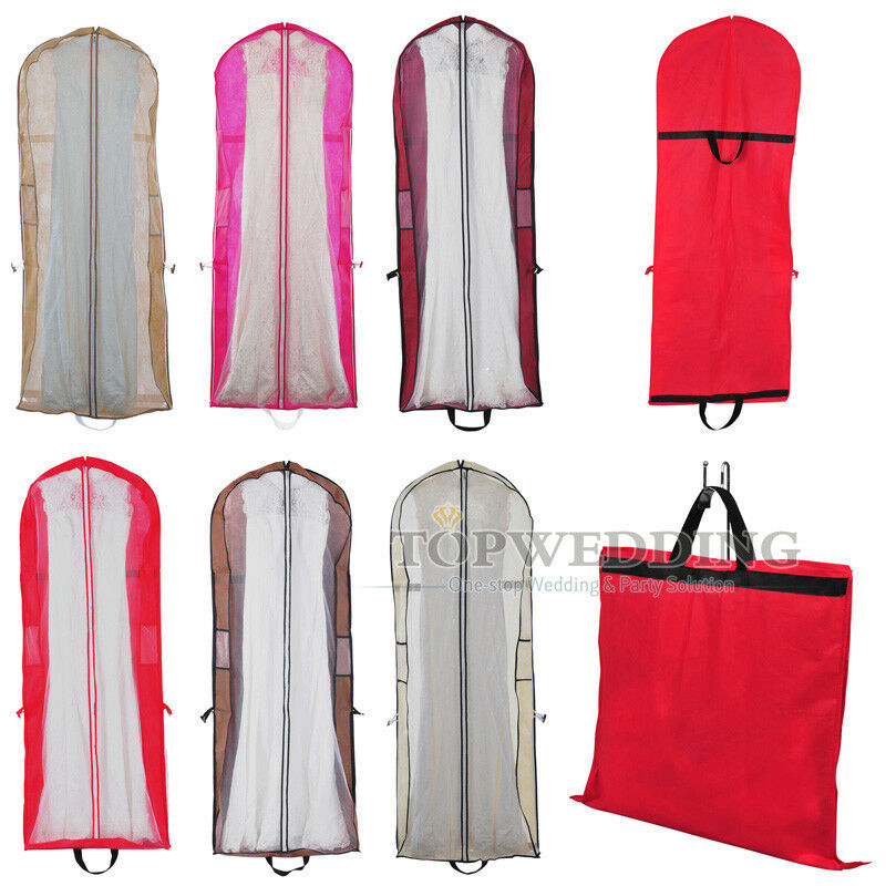New 6 Colors Wedding Bridal Garment Bag Ball Gown Party Dress Suit Storage Cover