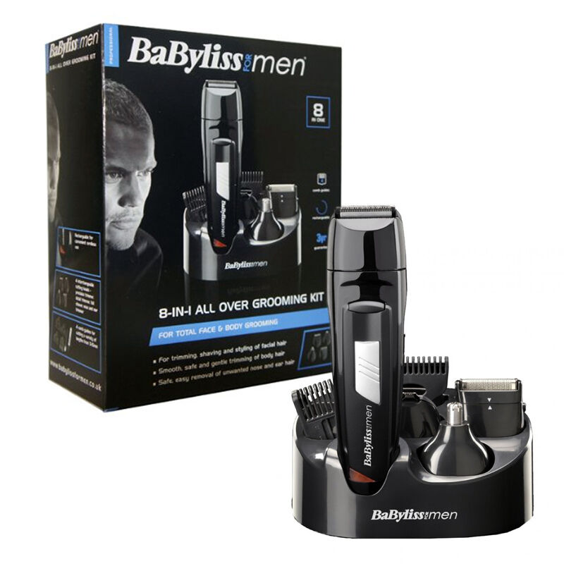 babyliss men 8 in 1 grooming kit cordless body hair clipper beard trimmer 7056cu 3030053270560. Black Bedroom Furniture Sets. Home Design Ideas