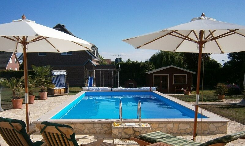 Pool rechteck styroporbecken p40 becken blau 600x300x150 for Pool 300 x 120